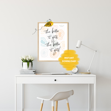 Load image into Gallery viewer, The Better it Gets Quote Wall Print,  Esther Hicks Quote, Digital Wall Art Print