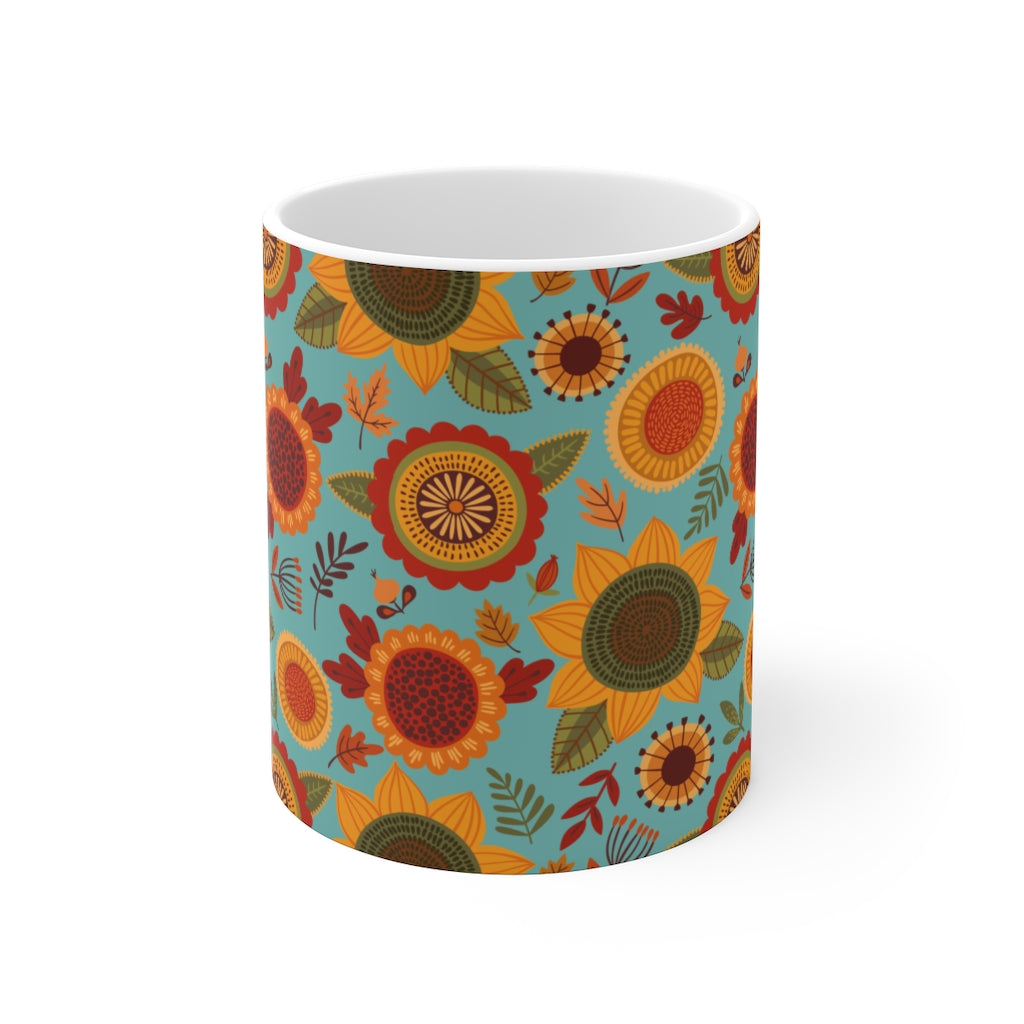 Colorful Fall Sunflower Mug