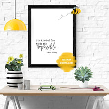 Load image into Gallery viewer, Walt Disney Quote Wall Print, Digital Wall Art Print