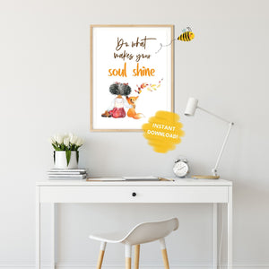 Inspirational Quote Wall Print,  Digital Wall Art Print