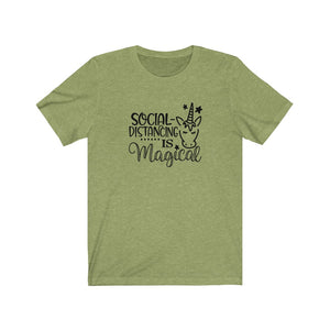 Social Distancing Unicorn Unisex Short Sleeve Tee