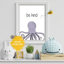Load image into Gallery viewer, Be Kind Wall Print,  Digital Wall Art Print