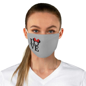 Disney Love Gray Fabric Face Mask