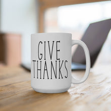 Load image into Gallery viewer, GIVE THANKS Bold Print Thanksgiving Mug
