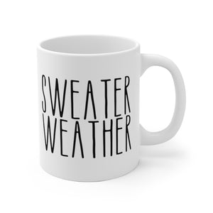 SWEATER WEATHER Bold Print Fall Mug