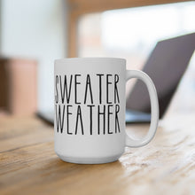 Load image into Gallery viewer, SWEATER WEATHER Bold Print Fall Mug
