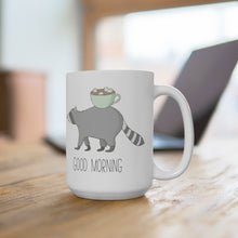 Load image into Gallery viewer, Good Morning Raccoon Ceramic Mug