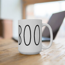 Load image into Gallery viewer, BOO Bold Print Halloween Mug