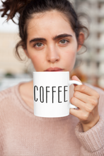 Load image into Gallery viewer, COFFEE Bold Print Mug