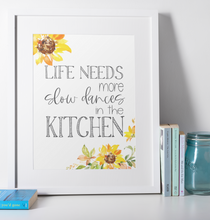 Load image into Gallery viewer, Slow Dances in the Kitchen Floral Wall Print,  Digital Wall Art Print
