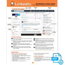 Load image into Gallery viewer, LinkedIn Cheat Sheet