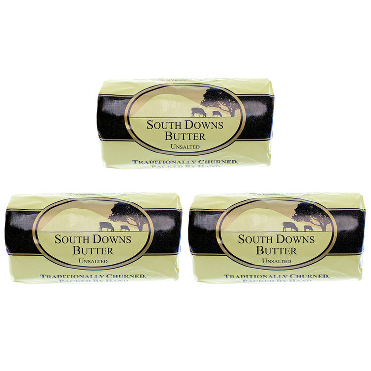 South Downs Unsalted Butter 200g x 3