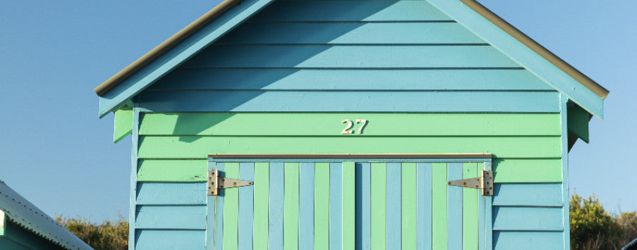 Bathing Shed or Bathing Boxes, in Brighton, Victoria, Australia