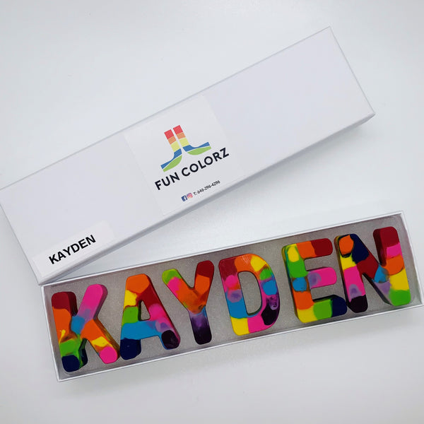 Rainbow Name Crayons