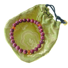 Load image into Gallery viewer, Akiki™ Rhodonite Bracelet for Forgiveness • Love • Emotional Healing - Elastic - Natural crystals - Customizable - Free jewelry pouch - Saatwa