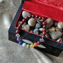 Load image into Gallery viewer, Espri™ Root Chakra Bracelet - Elastic red jasper crystals bracelet, customizable in length and bead size - Free jewelry pouch - Saatwa