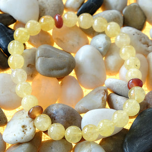 Akiki™ Leo Zodiac Bracelet - Elastic - Natural citrine crystal - Customizable in length and bead size - Free jewelry pouch - Saatwa