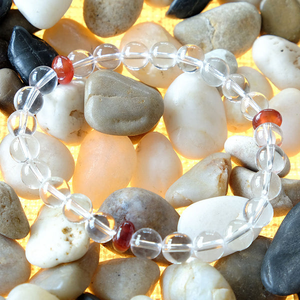 Akiki™ Rock Crystal Bracelet for Clarity • Manifestation • Illumination - Elastic - Natural crystals - Customizable - Free jewelry pouch - Saatwa