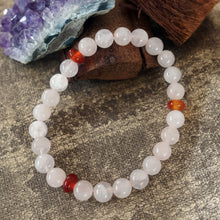Load image into Gallery viewer, Akiki™ Taurus Zodiac  Bracelet - Elastic - Rose quartz crystal - Customizable in length and bead size - Free jewelry pouch - Saatwa