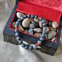 Load image into Gallery viewer, Akiki™ Snowflake Obsidian Bracelet - Elastic natural healing crystal bracelet - Customizable in length and bead size - Free jewelry pouch - Saatwa