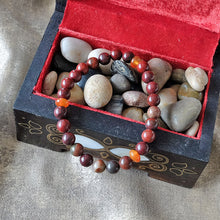 Load image into Gallery viewer, Akiki™ Red Jasper Bracelet for Stability • Foundation • Action - Elastic - Natural crystals - Customizable - Free jewelry pouch - Saatwa