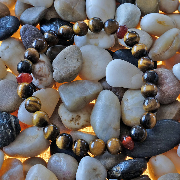 Akiki™ Tiger Eye Bracelet for Power • Courage • Understanding - Elastic - Natural crystals - Customizable - Free jewelry pouch - Saatwa