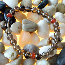 Load image into Gallery viewer, Akiki™ Smoky Quartz Bracelet for Detoxifying • Grounding • Moving Forward - Elastic - Natural  crystals - Customizable - Free jewelry pouch - Saatwa