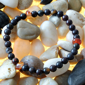 Akiki™ Bloodstone Bracelet for Vitality • Alive • Revitalize - Elastic - Natural crystals - Customizable - Free jewelry pouch - Saatwa
