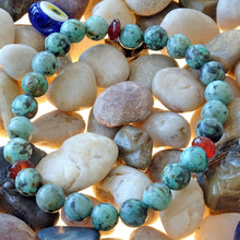 Load image into Gallery viewer, Akiki™ African Turquoise Bracelet for Health • Healing • Renewal - Elastic - Natural crystals - Customizable - Free jewelry pouch - Saatwa