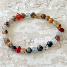 Load image into Gallery viewer, Akiki™ Lodolite Bracelet - Elastic - Natural healing crystals - Customizable in length and bead size - Free jewelry pouch - Saatwa