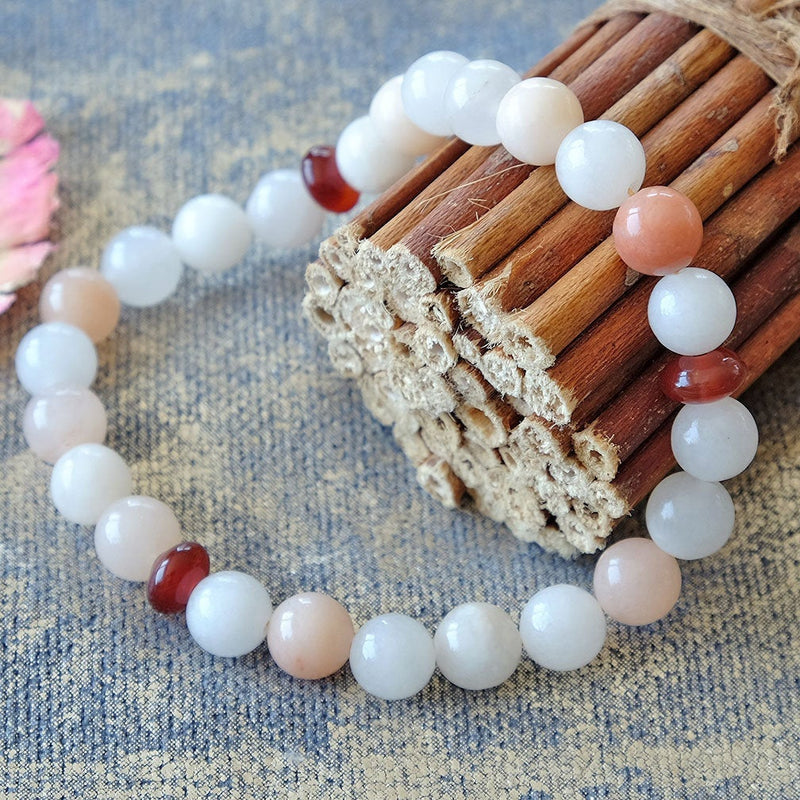 Bracelet for Luck • Abundance • Confidence - Akiki™ Natural Pink Aventurine crystals - Customizable - Free jewelry pouch - Saatwa