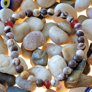 Akiki™ Australian Agate Bracelet for Strength • Balance • Confidence - Elastic - Natural crystals - Customizable - Free jewelry pouch - Saatwa
