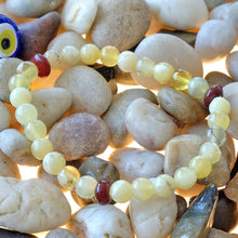 Load image into Gallery viewer, Akiki™ Yellow Opal Bracelet - Elastic - Natural healing crystals - Customizable in length and bead size - Free jewelry pouch - Saatwa