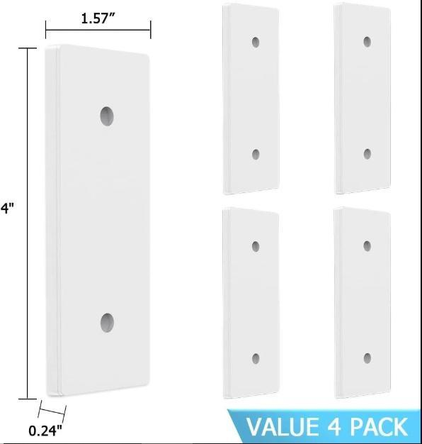 Power Strip Holder Mount for Power Strip, WiFi Router, Remote Control and Others(4 PACK)