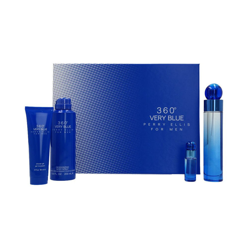360 Very Blue ESTUCHE 4pzs - Expo Perfumes Outlet