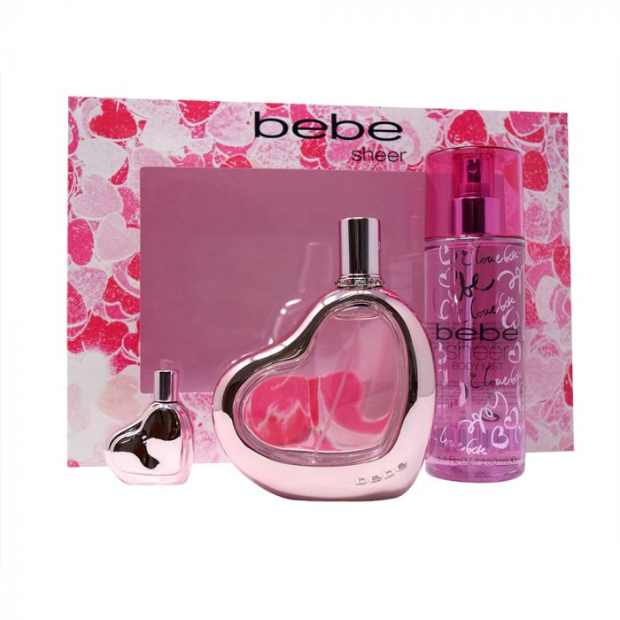 Bebe Sheer ESTUCHE 3pzs - Expo Perfumes Outlet
