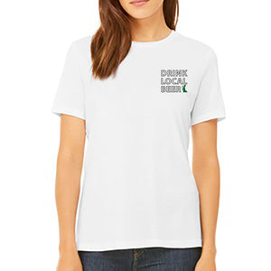 "Bewilder ""Drink Local"" Woman's Cut T-Shirt"