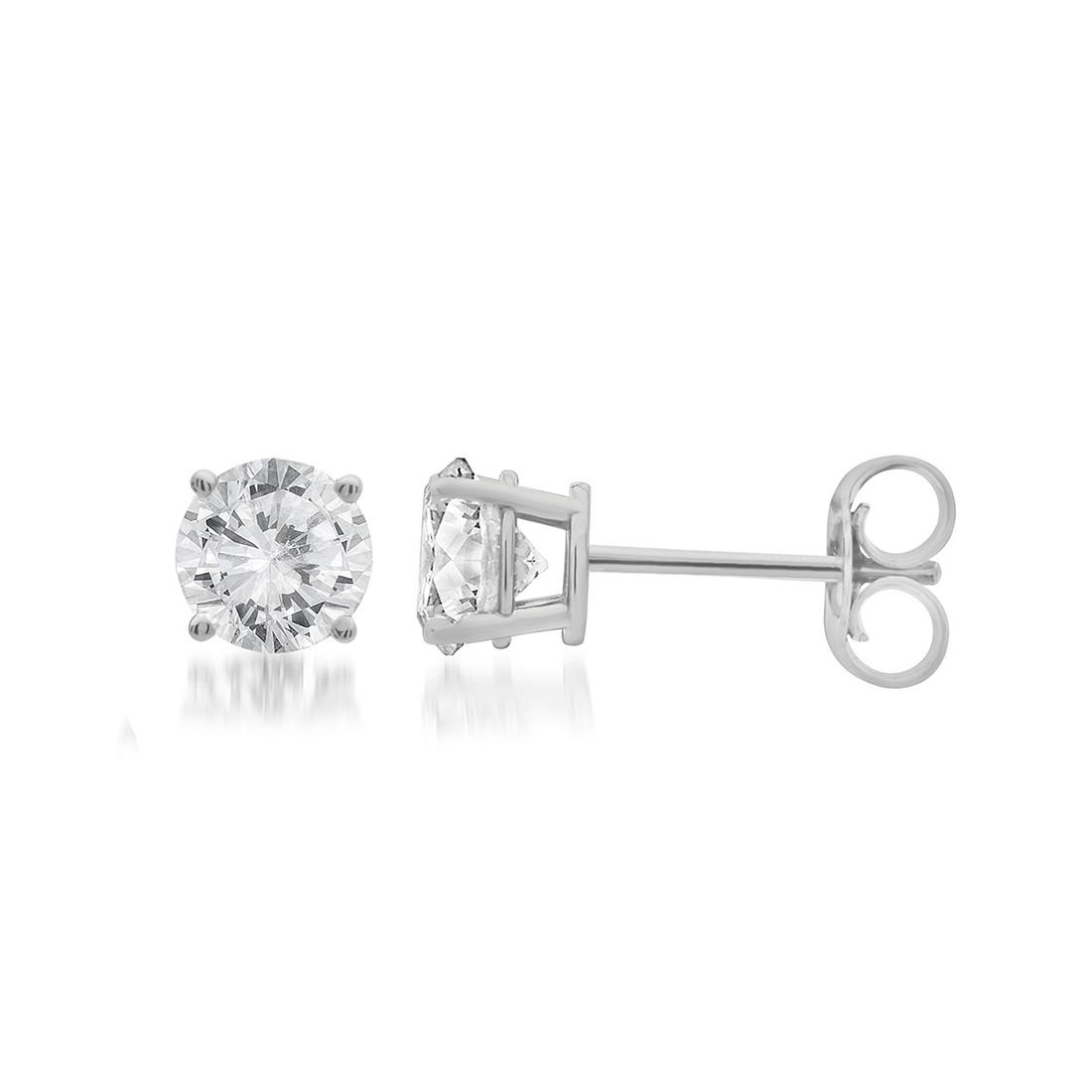 0.25ct - 0.60ct  Total Weight Round Brilliant Diamond Studs in 14kt White or Yellow Gold