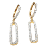 14kt Yellow Gold Designers Earrings 1.64ct Diamonds