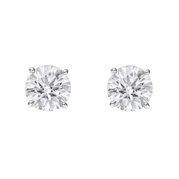 0.75ct - 2ct  Total Weight Round Brilliant Diamond Studs in 14kt White Gold or Yellow Gold