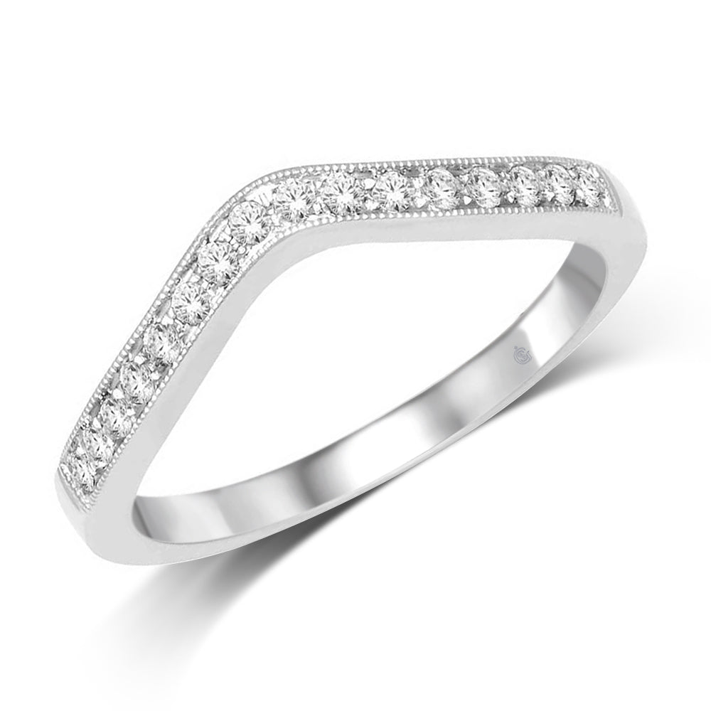 14K White Gold 1/5 Ct.Tw. Diamond Anniversary Band