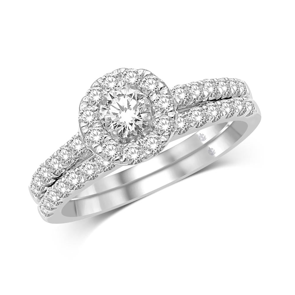 10K White Gold 1 Ct.Tw. Diamond Fashion Ring