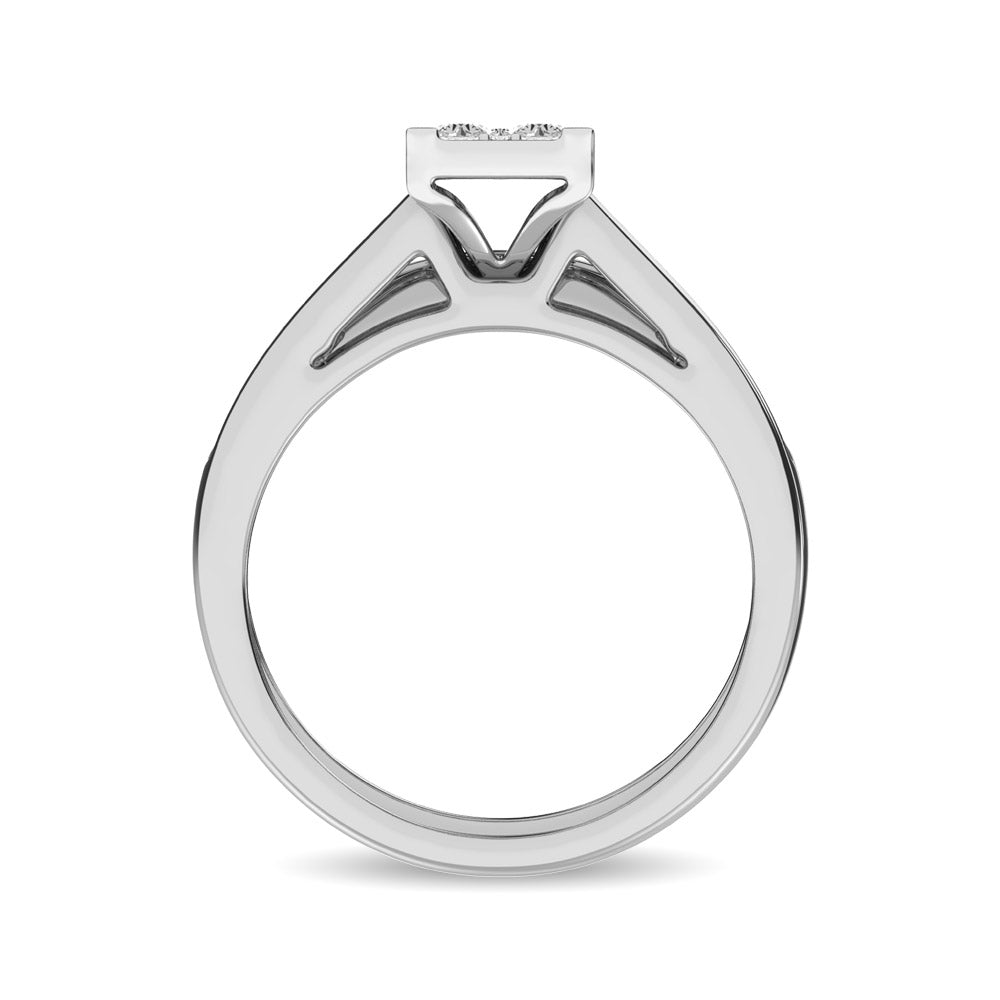10K White Gold 1 Ct.Tw. Diamond Bridal Ring