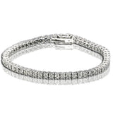 Sterling Silver 1/5 Ct.Tw.Diamond Mount Bracelet