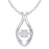10K White Gold 1/20 Ct.Tw. Moving Diamond Fashion Pendant
