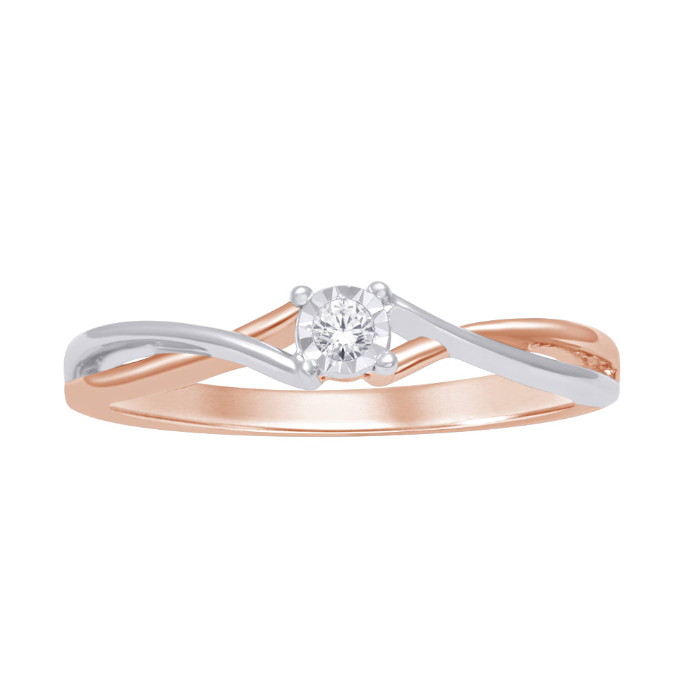 10K Two Tone Gold 1/20 Ct.Tw. Diamond Promise Ring
