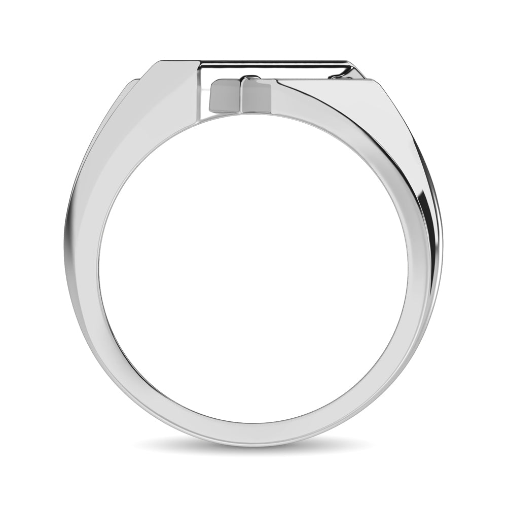 10K White Gold 1/4 Ct.Tw. Diamond Mens Ring