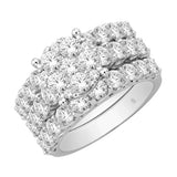 14K White Gold 4 Ct.Tw. Diamond Bridal Ring