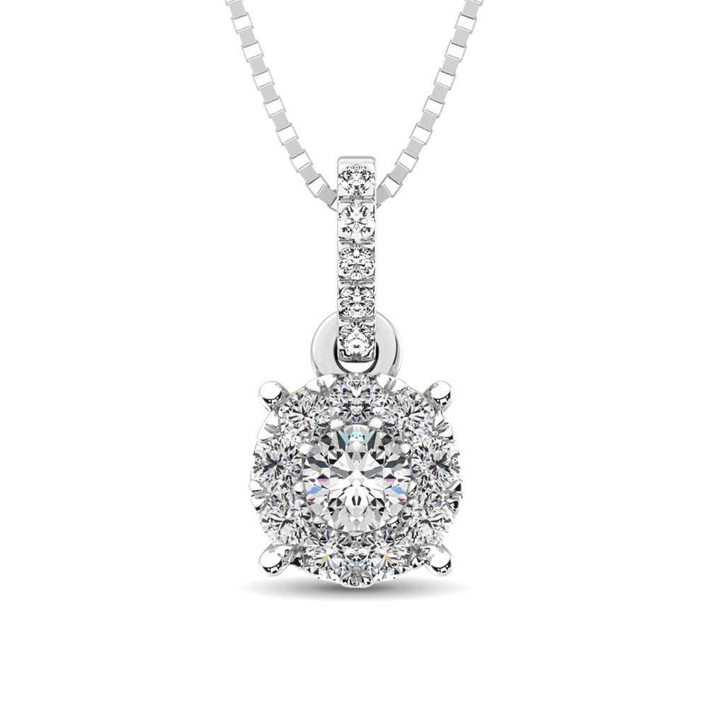 14K White Gold 1/3 Ct.Tw. Diamond Fashion Pendant