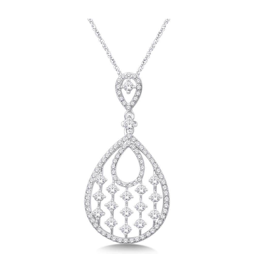 14K White Gold 5/8 Ct.Tw. Diamond Fashion Pendant
